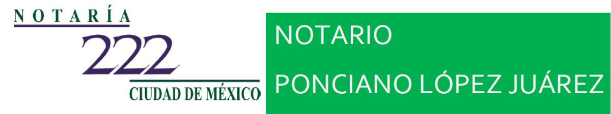 NOTARIA 222