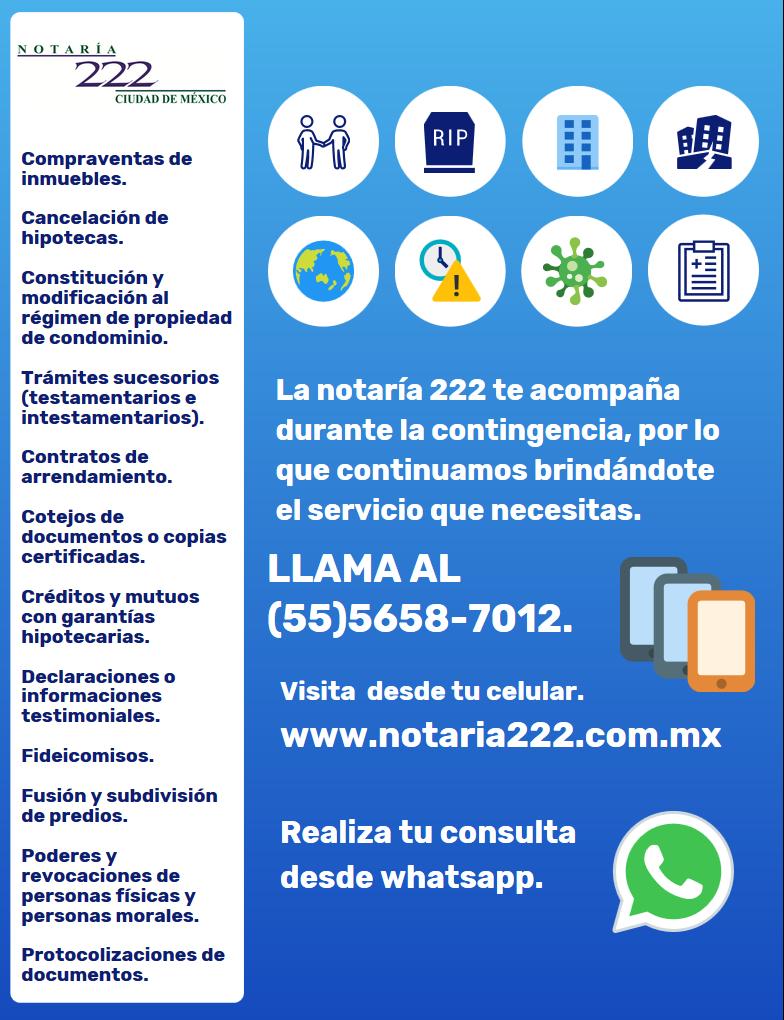 servicios notariales covid 2020
